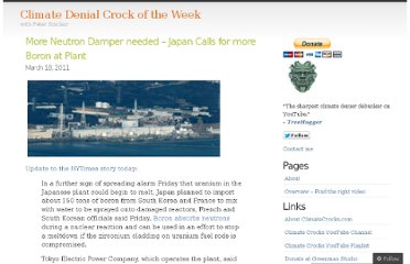 http://climatecrocks.com/2011/03/18/more-neutron-damper-needed-japan-calls-for-more-boron-at-plant/