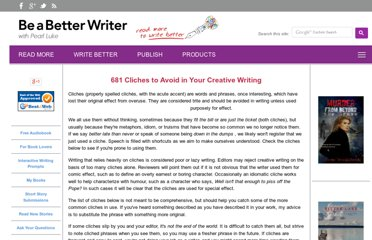 http://www.be-a-better-writer.com/cliches.html