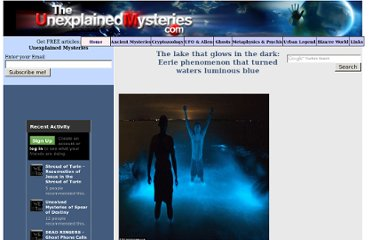 http://theunexplainedmysteries.com/Glowing-lake-in-Dark.html