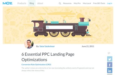 http://www.seomoz.org/blog/6-essential-ppc-landing-page-optimizations