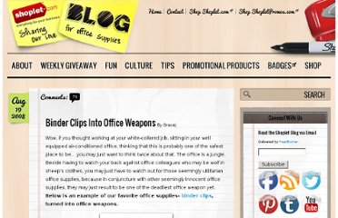 http://blog.shoplet.com/office-supplies/binder-clips-into-office-weapons/
