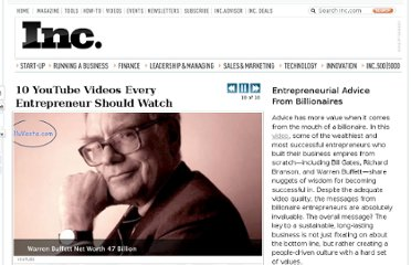 http://www.inc.com/ss/10-youtube-videos-every-entrepreneur-should-watch#9