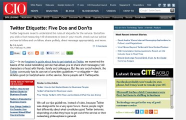 http://www.cio.com/article/480318/Twitter_Etiquette_Five_Dos_and_Don_ts_