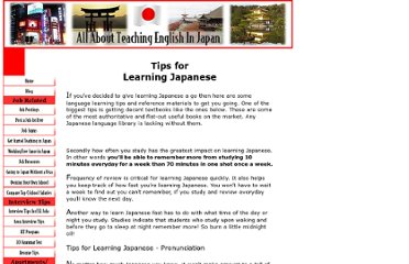 http://www.all-about-teaching-english-in-japan.com/languagelearningtips.html#Lesson%201