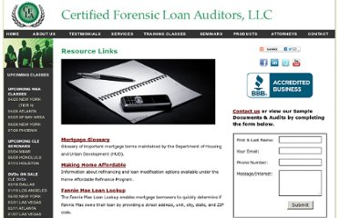 http://www.certifiedforensicloanauditors.com/6.2_resources.html