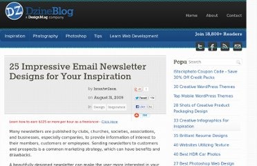 http://dzineblog.com/2009/08/25-impressive-email-newsletter-designs-for-your-inspiration.html