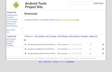 http://tools.android.com/download