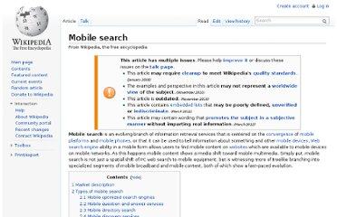 http://en.wikipedia.org/wiki/Mobile_search