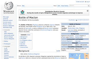 http://en.wikipedia.org/wiki/Battle_of_Mactan#In_Philippine_culture