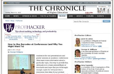 http://chronicle.com/blogs/profhacker/how-to-use-barcodes-at-conferences-and-why-you-might-want-to/34209