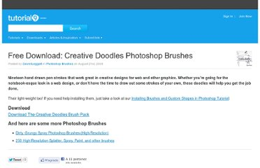 http://www.tutorial9.net/downloads/free-download-creative-doodles-photoshop-brushes/
