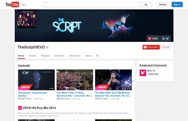 http://www.youtube.com/user/TheScriptVEVO