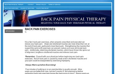 http://backpainphysicaltherapy.net/back-pain-exercises-2/