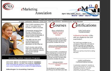 http://www.emarketingassociation.com/education.htm