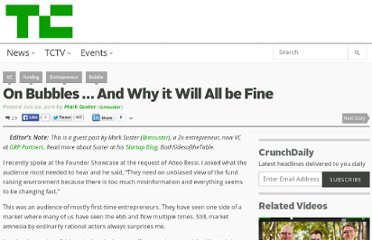 http://techcrunch.com/2011/06/22/on-bubbles-and-why-it-will-all-be-fine/