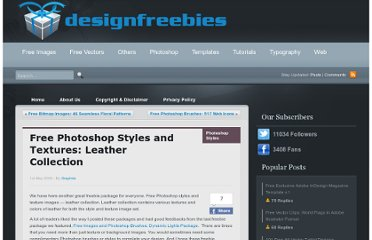 http://www.designfreebies.org/free-images/textures/free-photoshop-styles-and-textures-leather-collection/