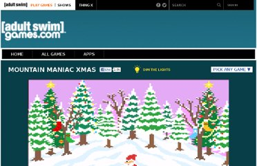 Free Online Game - Mountain Maniac Xmas from Adult Swim