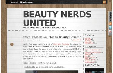 http://www.beautynerdsunited.com/2011/03/from-kitchen-counter-to-beauty-counter/