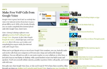 http://lifehacker.com/5349506/make-free-voip-calls-from-google-voice