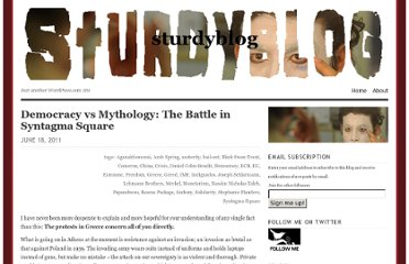 https://sturdyblog.wordpress.com/2011/06/18/democracy-vs-mythology-the-battle-in-syntagma-square/