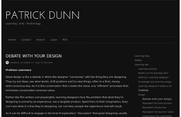 http://patrickdunn.squarespace.com/debate-with-your-design-module/