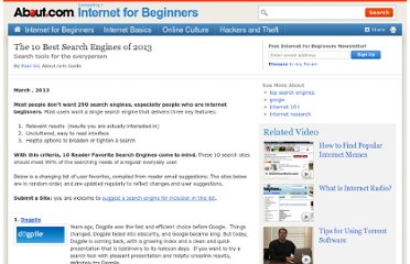http://netforbeginners.about.com/od/navigatingthenet/tp/top_10_search_engines_for_beginners.htm