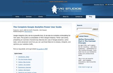 http://blog.vkistudios.com/index.cfm/2009/6/5/The-Google-Analytics-Power-User-Guide