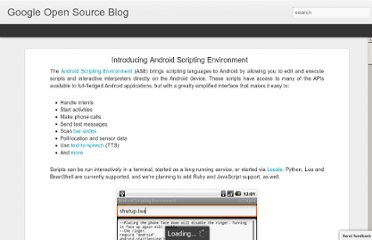 http://google-opensource.blogspot.com/2009/06/introducing-android-scripting.html