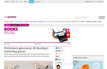 http://www.guardian.co.uk/books/booksblog/2011/jun/23/pottermore-jk-rowling-marketing-genius-harry-potter