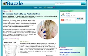 http://www.buzzle.com/articles/homemade-sea-salt-spray-recipes-for-hair.html