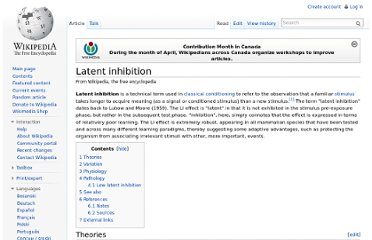 http://en.wikipedia.org/wiki/Latent_inhibition