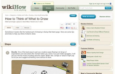 http://www.wikihow.com/Think-of-What-to-Draw