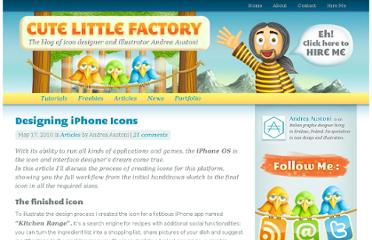http://www.cutelittlefactory.com/articles/designing-iphone-icons/
