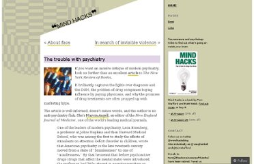 http://mindhacks.com/2011/06/22/the-trouble-with-psychiatry/