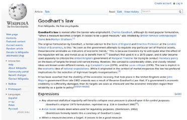 http://en.wikipedia.org/wiki/Goodhart%27s_law