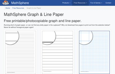 http://www.mathsphere.co.uk/resources/MathSphereFreeGraphPaper.htm