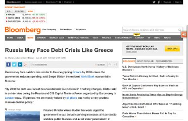 http://www.bloomberg.com/news/2011-06-23/russia-may-face-debt-crisis-like-greece-by-2030-world-bank-says.html