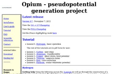 http://opium.sourceforge.net/tutorial.html