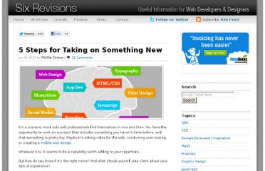 http://sixrevisions.com/project-management/steps-something-new/