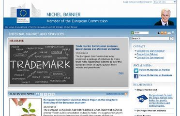 http://ec.europa.eu/commission_2010-2014/barnier/index_en.htm