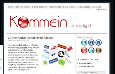 http://kommein.com/25-free-online-social-media-classes/