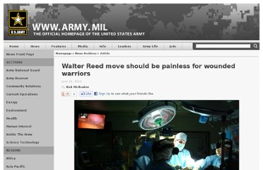 http://www.army.mil/article/60262/Walter_Reed_move_should_be_painless_for_wounded_warriors/