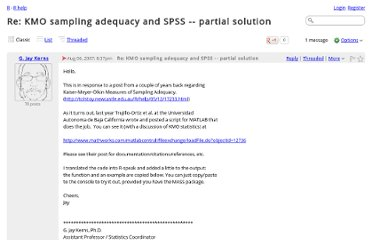 http://r.789695.n4.nabble.com/Re-KMO-sampling-adequacy-and-SPSS-partial-solution-td831646.html