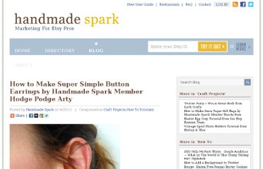 http://www.handmadespark.com/blog/how-to-make-super-simple-button-earrings-by-handmade-spark-member-hodge-podge-arty/