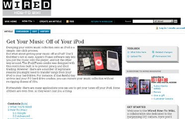 http://howto.wired.com/wiki/Get_Your_Music_Off_of_Your_iPod