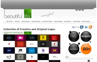 http://www.beautifullife.info/graphic-design/collection-of-creative-and-original-logos/