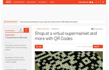 http://thenextweb.com/socialmedia/2011/06/24/shop-at-a-virtual-supermarket-and-more-with-qr-codes/
