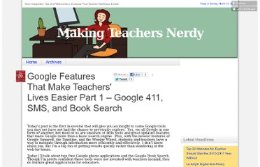 http://mrssmoke.onsugar.com/Google-Features-Make-Teachers-Lives-Easier-Part-1-Google-411-SMS-Book-Search-3534698