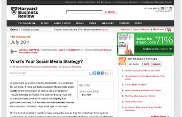 http://hbr.org/2011/07/whats-your-social-media-strategy/ar/1