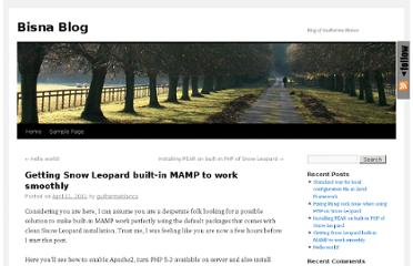 http://blog.bisna.com/2011/04/getting-snow-leopard-builtin-mamp-to-work-smoothly/